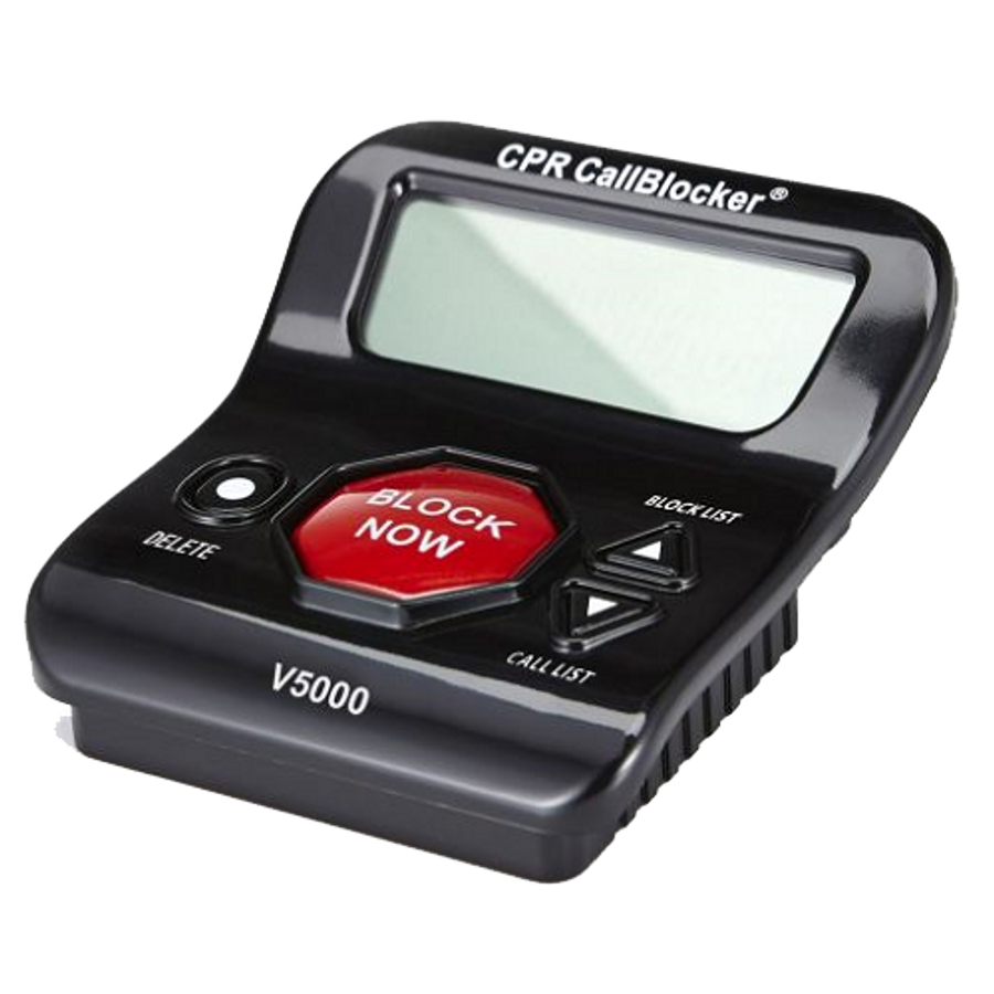 CPR V5000 Call Blocker - Block All PPI, Political Calls, Scam Calls, Unwanted Calls on Landline Phones. Block All Nuisance Calls At The Touch Of A Button using Caller ID