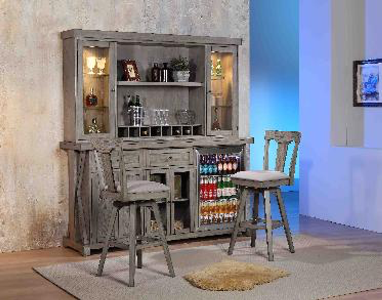 Picture of: Eci Graystone 78 Back Bar And Hutch Gebhardts Com