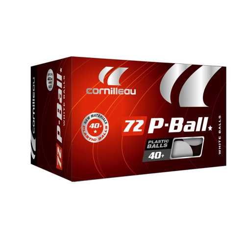 Cornilleau P-Ball Poly 1-Star White 72 Ball Pack