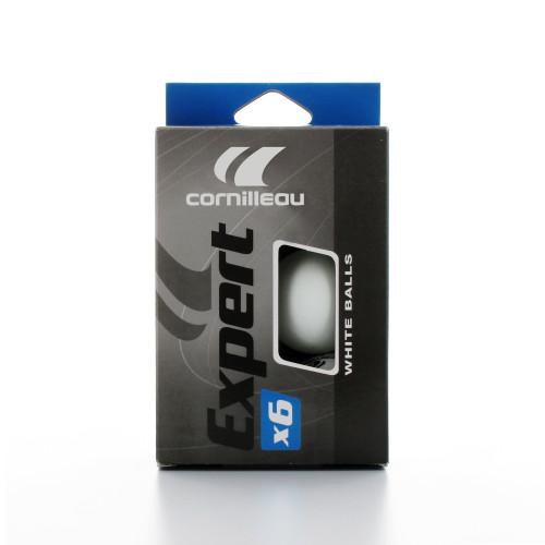 Cornilleau Expert 2-Star White 6 Ball Pack