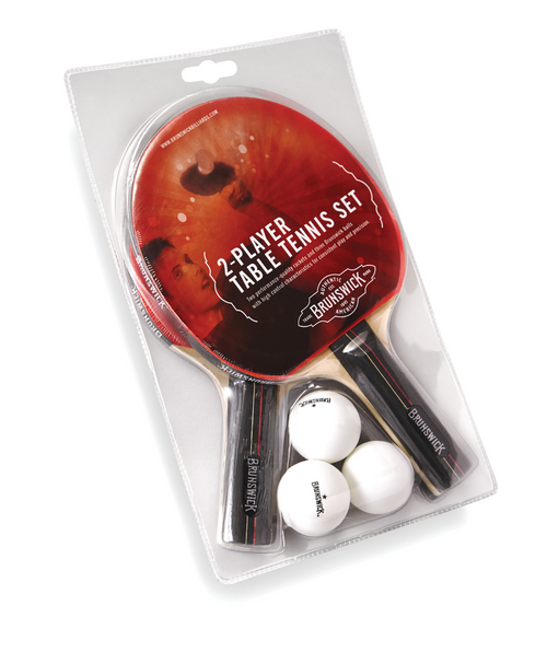 Brunswick Smash Table Tennis 2-Player Racket Set