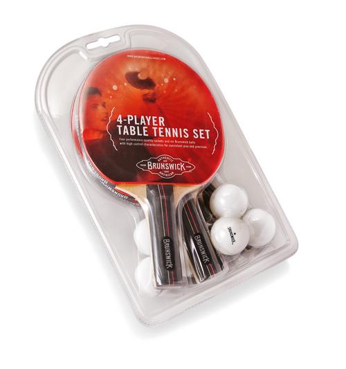 Brunswick Smash Table Tennis 4-Player Racket Set