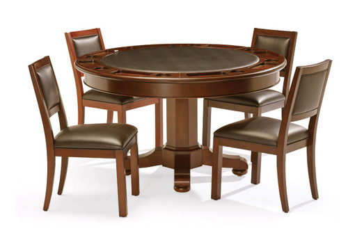 Brunswick Heritage Game Table Chestnut Set with chairs