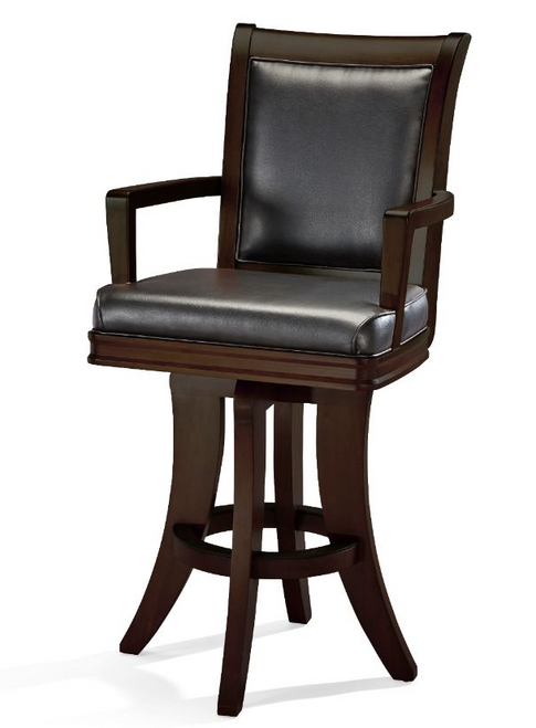 Brunswick Centennial High Back Bar Stool Espresso