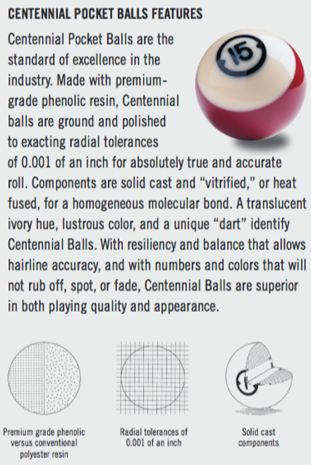 Brunswick Centennial Pocket Balls Premium Edition