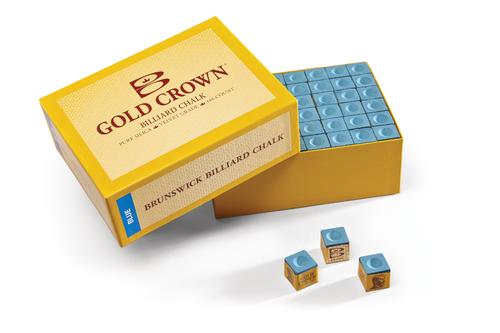 Brunswick Gold Crown Chalk 144 Cube Box - Blue