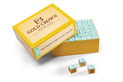Brunswick Gold Crown Chalk 12 Cube Box - Green