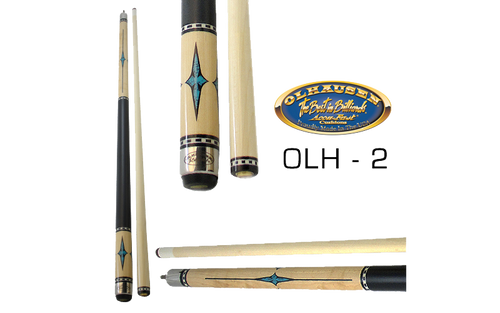 Olhausen Olh-2 Deluxe Inlaid Design Cues with Cue Case