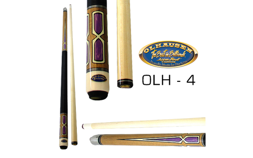 Olhausen Olh-4 Deluxe Inlaid Design Cues with Cue Case