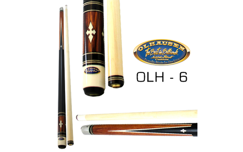 Olhausen Olh-6 Deluxe Inlaid Design Cues with Cue Case