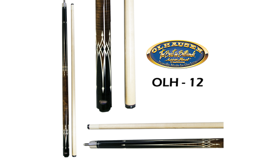 Olhausen Olh-12 Deluxe Inlaid Design Cues with Cue Case