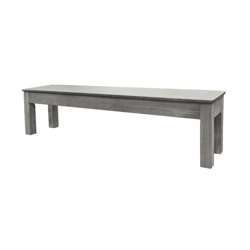 "Imperial 76"" Silver Mist Storage Bench"