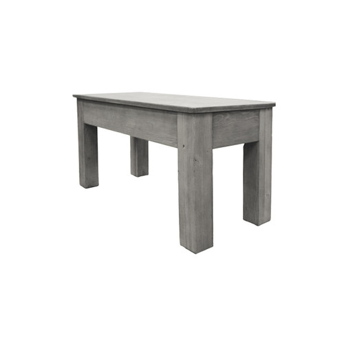 "Imperial Rustic 36"" Bench Silver Mist"