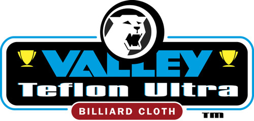 Championship Valley Teflon Ultra Pool Table Cloth Logo