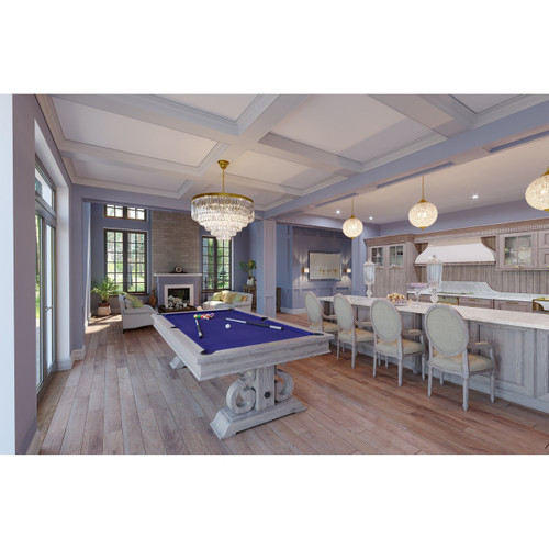 Imperial Barnstable Pool Table Silver Mist Finish