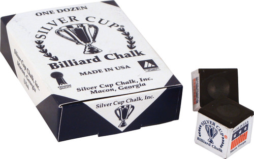 Silver Cup Chalk - Box of 12 - Black