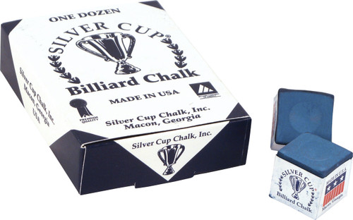 Silver Cup Chalk - Box of 12  - Blue