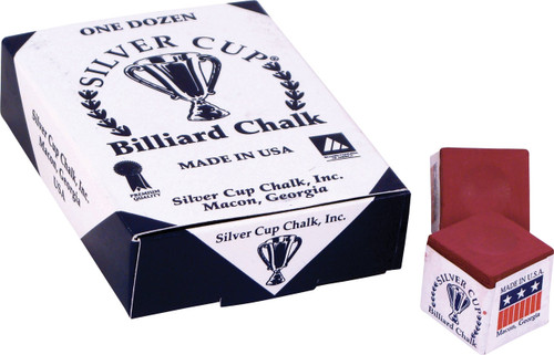 Silver Cup Chalk - Box of 12 - Burgundy