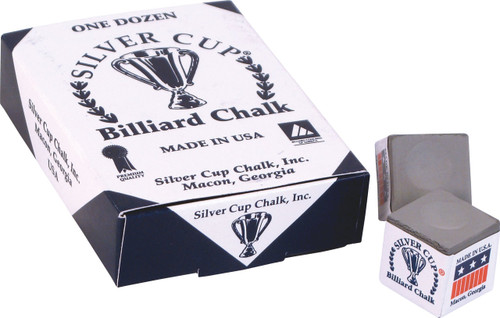 Silver Cup Chalk - Box of 12 - Pewter