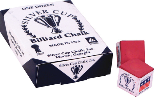 Silver Cup Chalk - Box of 12 - Red
