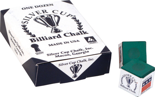 Silver Cup Chalk - Box of 12 - Tournament Green