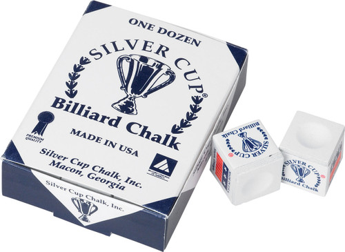 Silver Cup Chalk - Box of 12 - White