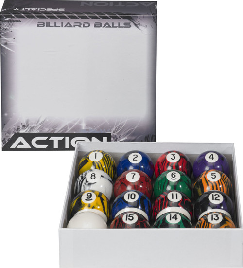 Action Black Marble Ball Set