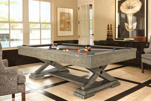 Brunswick Brixton Pool Table Driftwood Finish