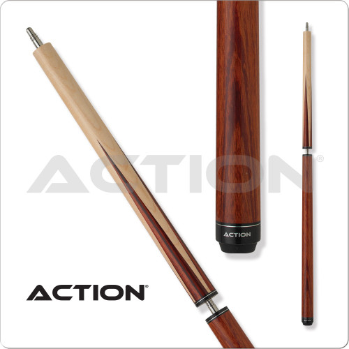 Action ACTBJR Red Stained Break Jump Pool Cue