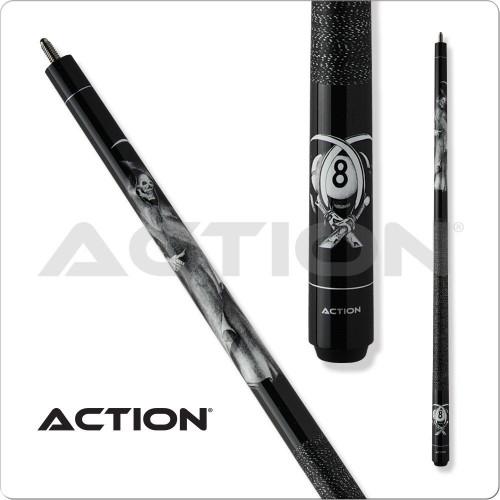 Action Adventure ADV101 Black Reaper Pool Cue
