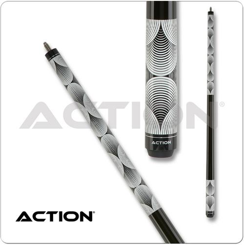 Action Black & White BW23 Pool Cue