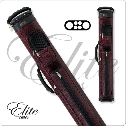 Elite ECCP24 2x4 Precision Burgundy Hard Cue Case