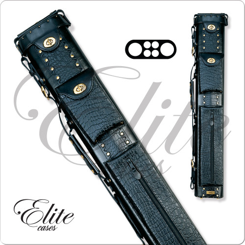Elite ECL24 2x4 Black Leather Hard Cue Case