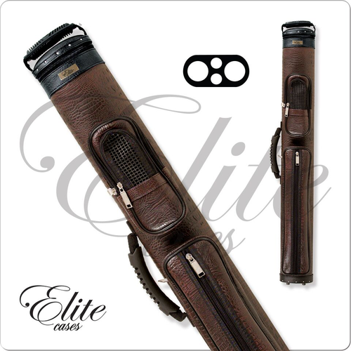 Elite ECCP22 2x2 Precision Brown Hard Cue Case