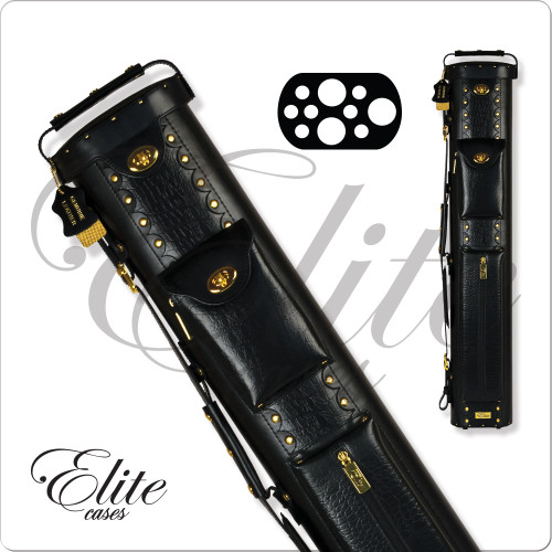 Elite ECL37 3x7 Black Leather Hard Cue Case