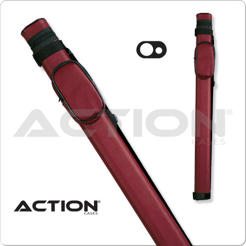 Action AC11 1x1 Burgundy Hard Cue Case