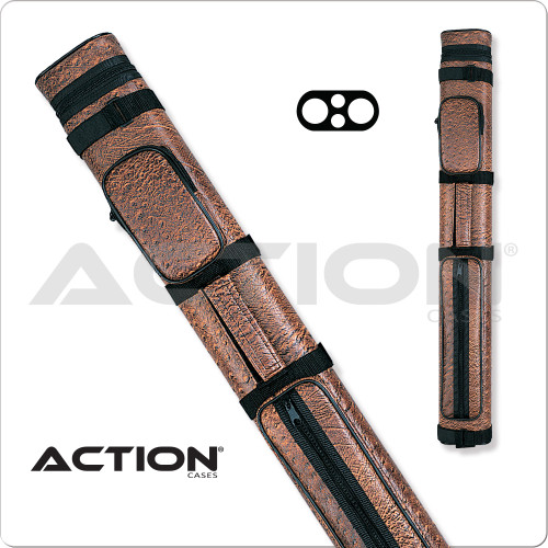 Action AC22 2x2 Brown Hard Cue Case
