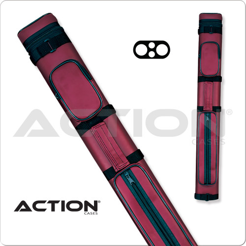 Action AC22 2x2 Burgundy Hard Cue Case