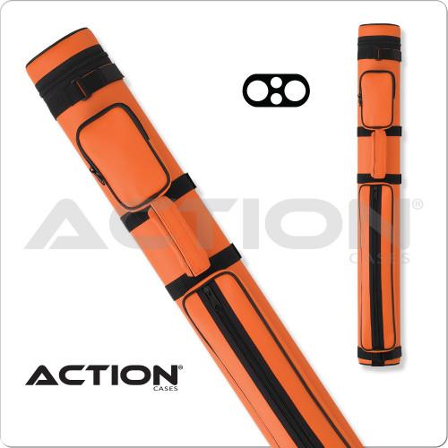Action AC22 2x2 Orange Hard Cue Case