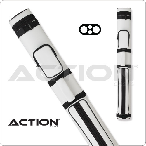 Action AC22 2x2 White Hard Cue Case