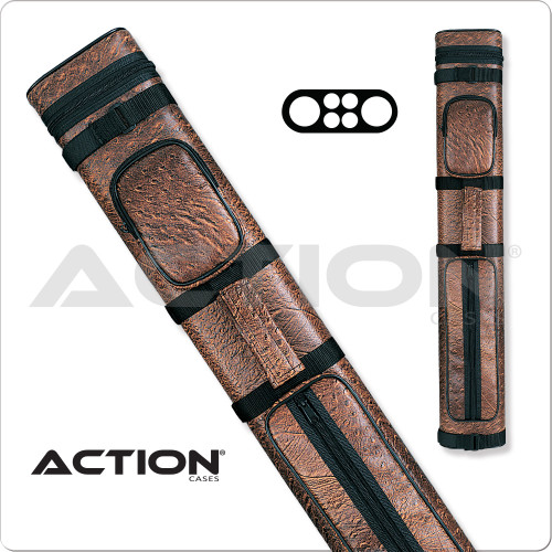 Action AC24 2x4 Brown Hard Cue Case