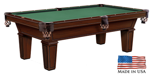 Gebhardts Montgomery Pool Table Traditional Mahogany Bridgeport Legs