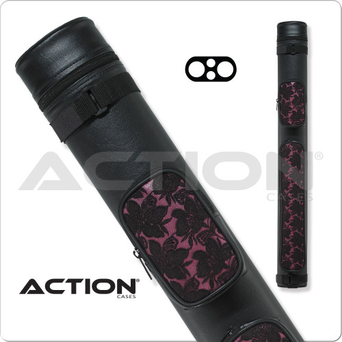 Action ACL22 Pink Lace Hard Cue Case