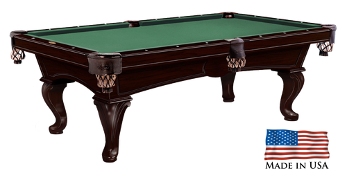 Gebhardts Columbia Pool Table Original Cherry Fairfax Legs