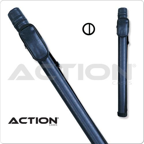 Action ACRND 1x2 Round Blue Hard Cue Case