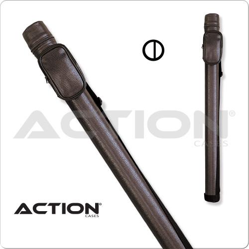 Action ACRND 1x2 Round Brown Hard Cue Case