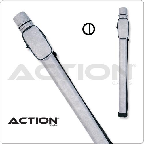 Action ACRND 1x2 Round Light Gray Hard Cue Case