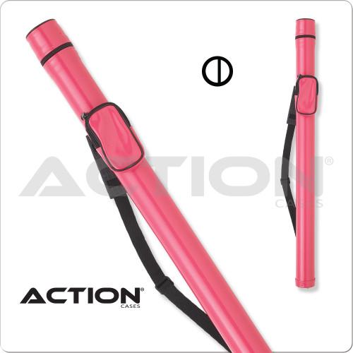 Action ACRND 1x2 Round Pink Hard Cue Case