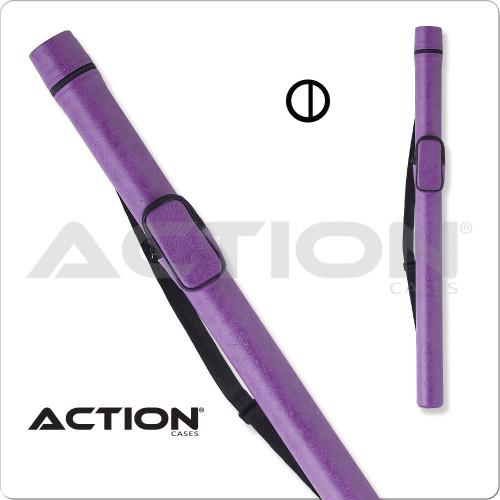 Action ACRND 1x2 Round Purple Hard Cue Case