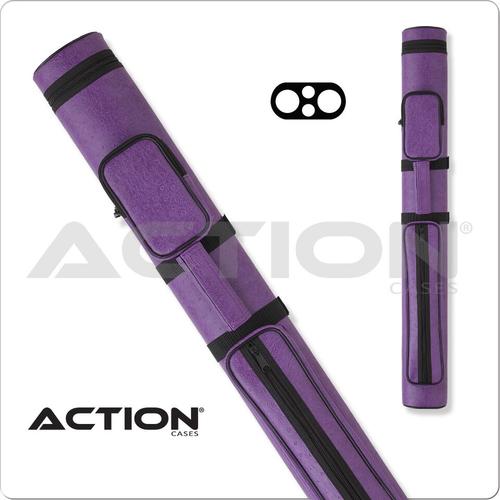 Action AC22 2x2 Purple Hard Cue Case